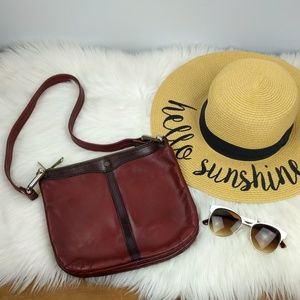 Vintage John Romain Leather Shoulder Bag Two tone